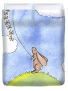 Bunny With A Kite Duvet Cover