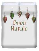 Buon Natale Italian Merry Christmas Duvet Cover