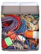 Buoys And Rope Duvet Cover