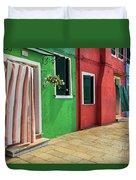 Burano Street Duvet Cover