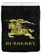 Burberry - Black And Gold - Lifestyle And Fashion Duvet Cover