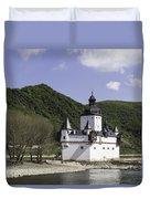 Burg Pfalzgrafenstein Squared Duvet Cover