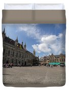 Burg Square In Bruges Belgium Duvet Cover
