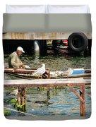 Burgazada Island Fisherman Duvet Cover