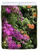 Burgazada Island Flower Color Duvet Cover