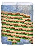 Burger Town Usa Map Duvet Cover