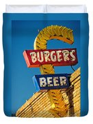 Burgers And Beer Duvet Cover