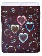 Burgundy Bubbles Duvet Cover