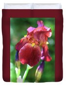 Burgundy Iris Duvet Cover