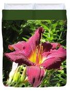 Burgundy Lily Duvet Cover