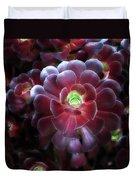 Burgundy Succulenta Duvet Cover
