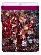 Burgundy Succulents. Multi Color Beauty Duvet Cover