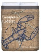Burlap Lobster Duvet Cover