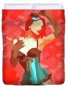 Burlesque Red Duvet Cover
