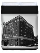Burlington North Carolina - Main Street Bw Duvet Cover