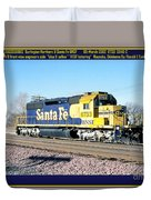 Burlington Northern Santa Fe Bnsf Duvet Cover