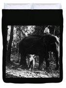 Burma: Elephants, 1960 Duvet Cover