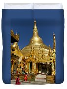 Burma's Golden Pagoda Duvet Cover