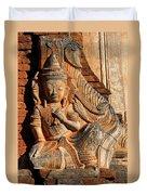 Burmese Pagoda Sculpture Duvet Cover