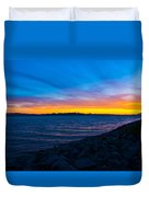 Burn Across The Bay Duvet Cover