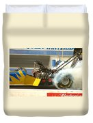 Burn Out On The Track Duvet Cover