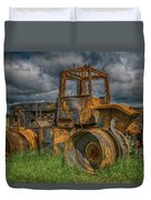 Burned Out Farm Tractor Duvet Cover