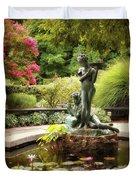 Burnett Fountain Garden Duvet Cover
