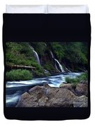 Burney Falls Creek Duvet Cover