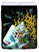 Burning Blackjack Duvet Cover
