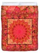 Burning Bush Floral Design  Duvet Cover