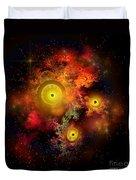 Burning Embers Nebula Duvet Cover