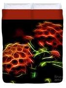 Burning Flower Duvet Cover