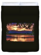 Burning Lake   Duvet Cover