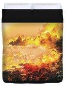 Burning Shore Duvet Cover