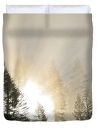 Burning Through The Fog Duvet Cover
