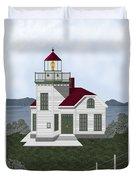 Burrows Island Lighthouse Duvet Cover
