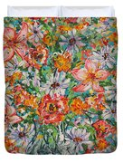 Burst Of Flowers Duvet Cover