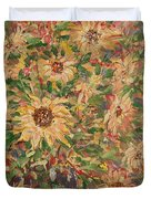 Burst Of Sunflowers. Duvet Cover