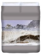 Burst Of Waves Duvet Cover