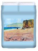 Burton Bradstock Beach Duvet Cover