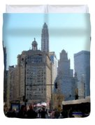 Bus On Miracle Mile  Duvet Cover