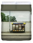 Bus Stop In Poland Duvet Cover