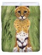 Bush Cat Duvet Cover