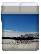 Bush In The Snow  Duvet Cover