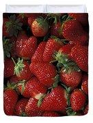 Bushel Of Strawberries Duvet Cover