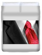 Business Suit White Shirt Red Tie Formal Wear Fashion Duvet Cover