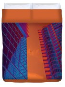 Business Travel, Architectural Abstract Duvet Cover