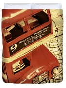 Bussing Britain Duvet Cover