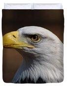 bust image of a Bald Eagle Duvet Cover