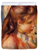 Bust Of A Young Girl Duvet Cover